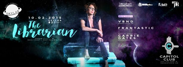 The Librarian Performing at The Capitol in 2015 for Skylab Events Party with VJ Carrie Gates
