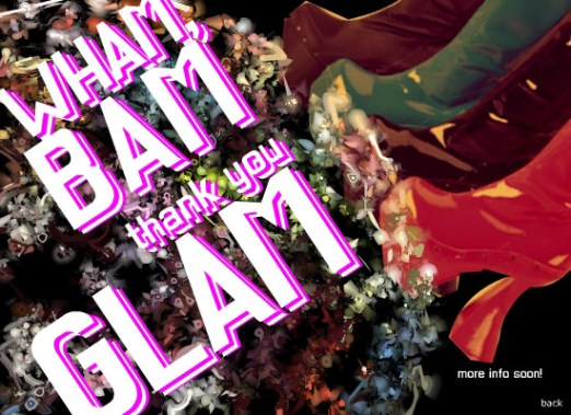 Wham Bam Thank You Glam - Flyer for Regina Rave