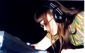 """Carrie Gates performing """"Memescape"""" at the DIGIDOME Festival by PAVED Arts 2002"""