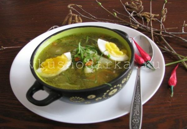 Суп со щавелем и яйцом – Вкуснодарка