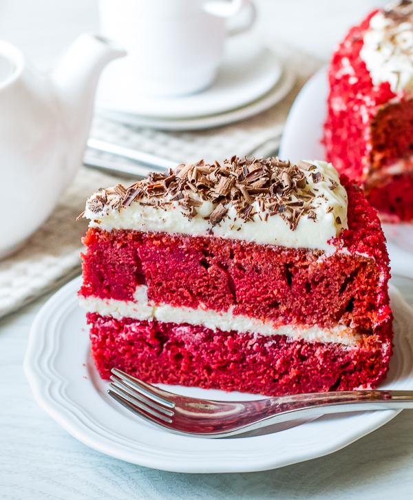"""Рецепт торта """"Красный бархат"""" на Вкусном Блоге"""