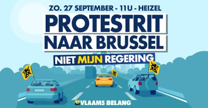 Protestrit naar Brussel - Niet mijn regering! – Vlaams Belang