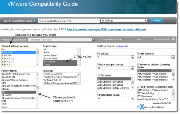 Vmware HCL for ESXi 5.0