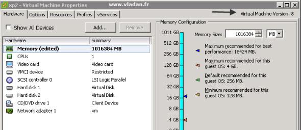 VMware vSphere 5 - Virtual Hardware upgraded to v. 8