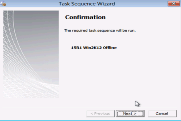 Failed to run task sequence 0x80070490 - task sequence wizard confirmation sccm 2012