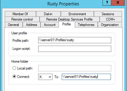 create a roaming profile configuring profile settings