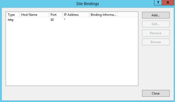 Change IIS default port - Site Bindings