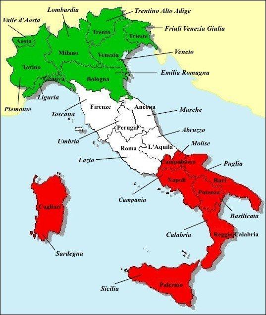 Mapa Italska Mapa