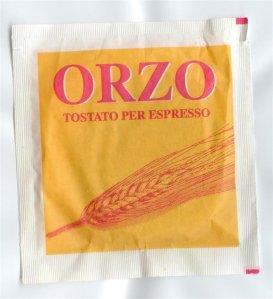 A toto je obilná káva z ječmene - velmi oblíbené pití v Itálii!