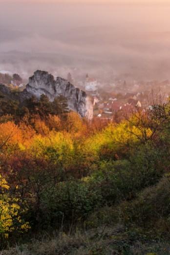 Barevné ráno nad Klentnicí