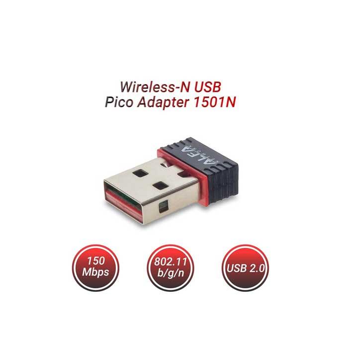 Ασυρματη καρτα δικτυου usb nano ΑLFA 1501N