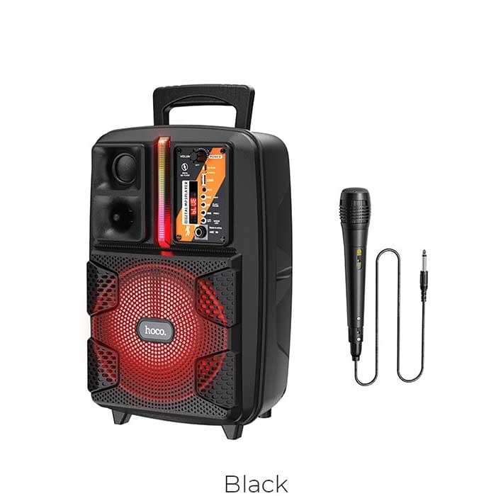 Φορητό Ηχοσύστημα Trolley Hoco BS37 Dancer Μαύρο 15W BT V5.0 TWS με Υποστήριξη FM, USB, AUX