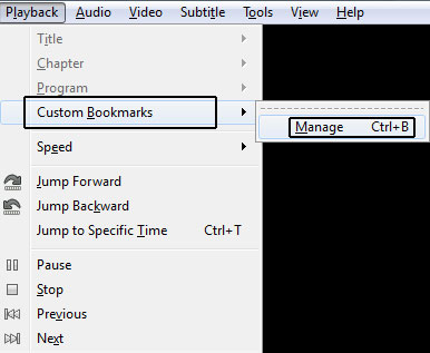 Manage Custom Bookmarks in VLC