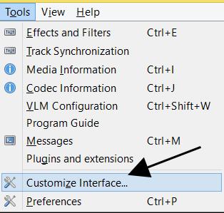 Customize VLC Interface