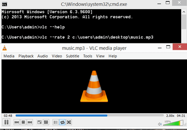 VLC Command Prompt