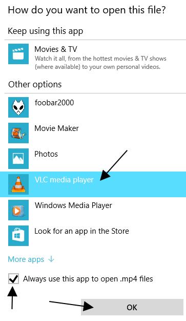 Selecting Default App