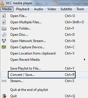 Convert Audio Formats using VLC Media Player