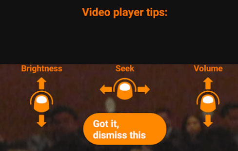 VLC Android Gestures