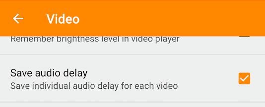 Save Audio Delay