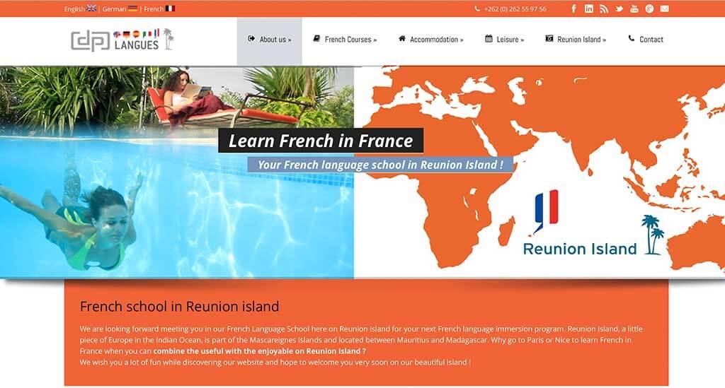 creation site web banque ecole langues