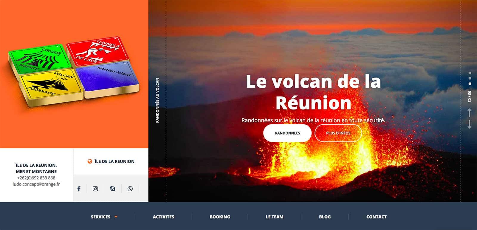 Activités à la Réunion, Agence web de Création de site internet