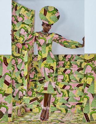 Casual mermaid dress Vlisco Lookbook Wax Fantastique