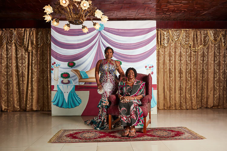 The house of Anita Erskine's parents in Accra