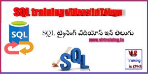sql training videos in telugu vlrtraining