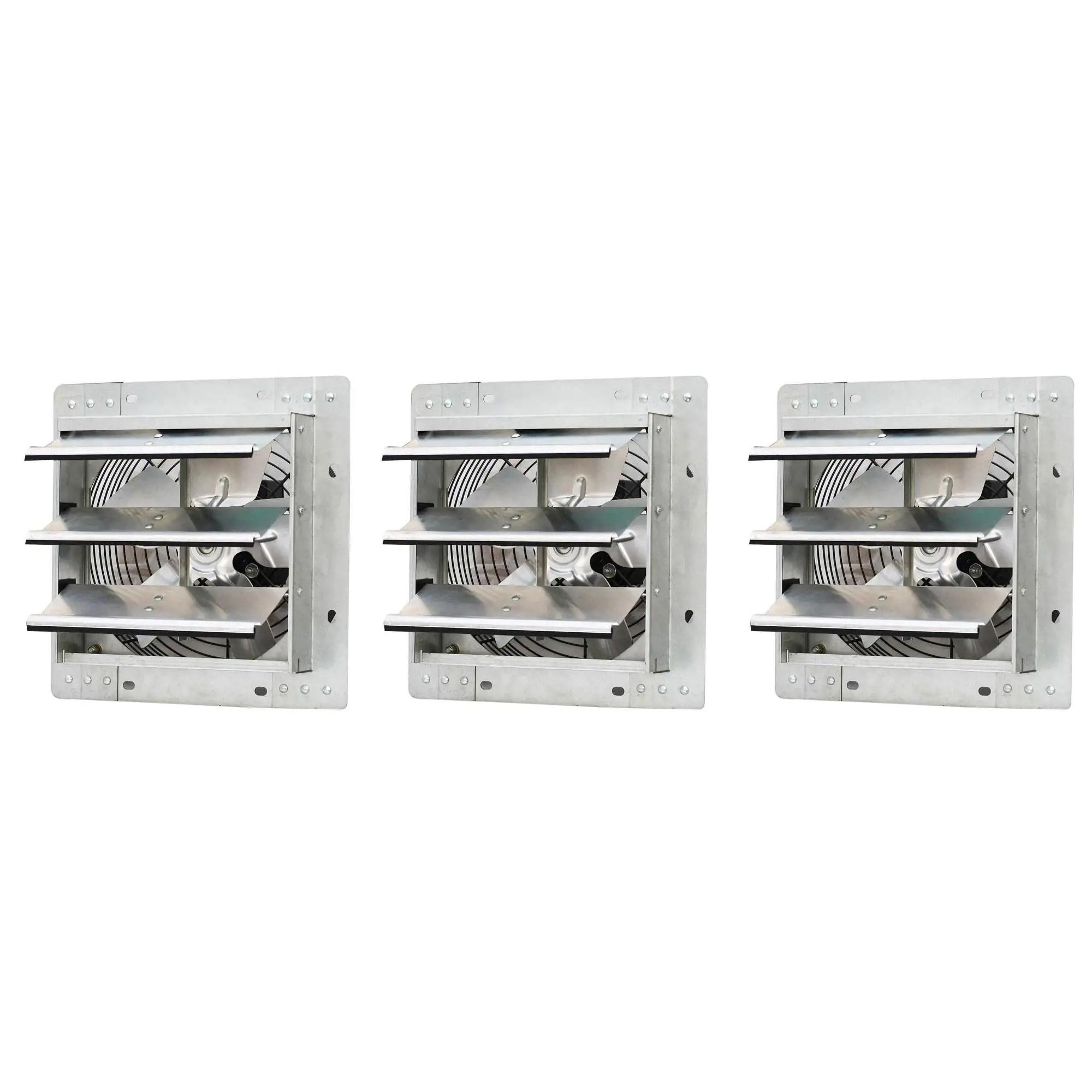 iliving 10 wall mounted shutter exhaust fan 3 pack