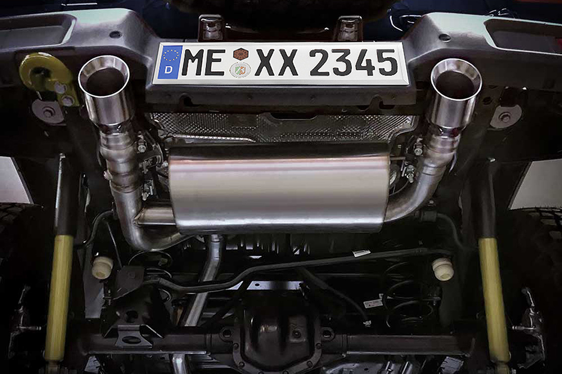 dual pipe exhaust system jeep wrangler