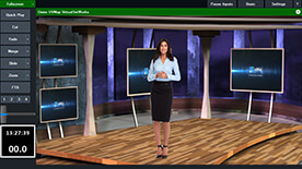 HD Virtual Sets with high quality real-time Chroma Key