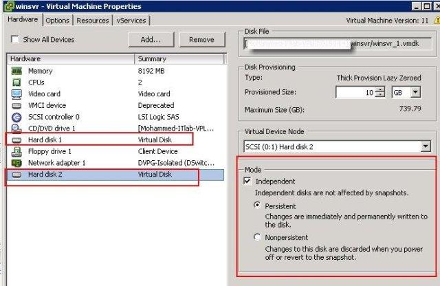 Exclude VM disk from VMware Snapshot_2