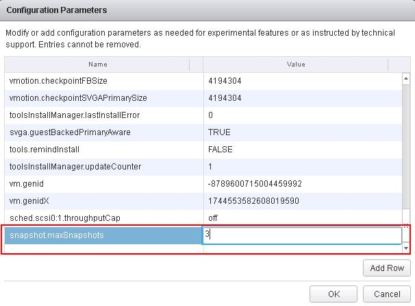 control maximum number of VMware snapshots_2