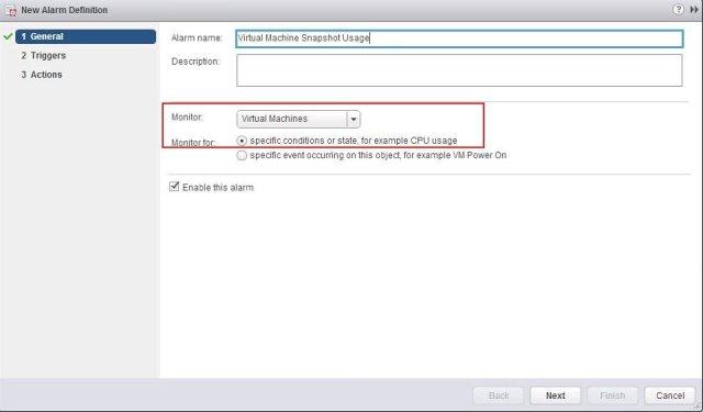 vCenter Alarm for VMware Snapshot Usage_2