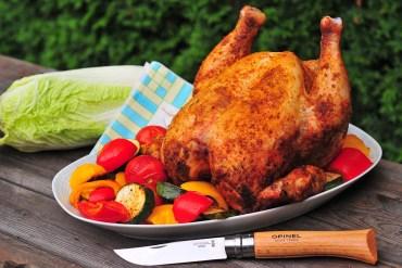 grilované kura s letnou zeleninou