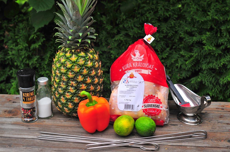 kráľovské kura ananás ovocie