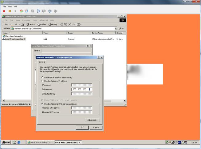SRM Configure IP address