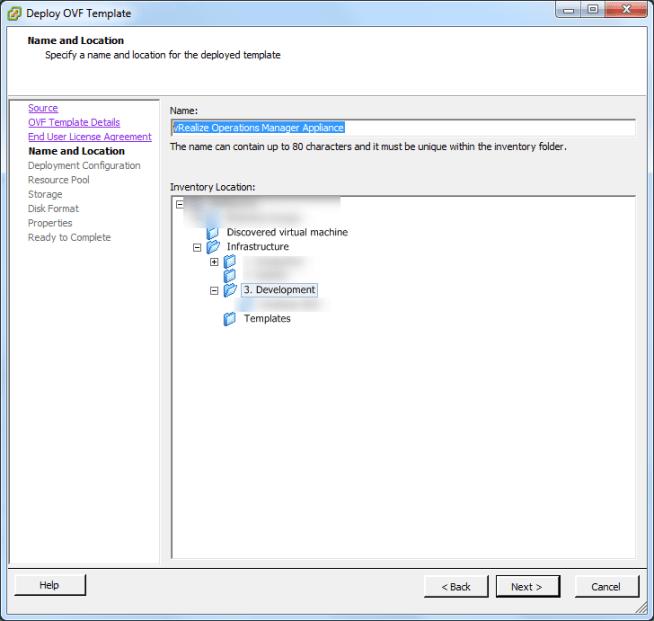 vrealize log insight installation step 6