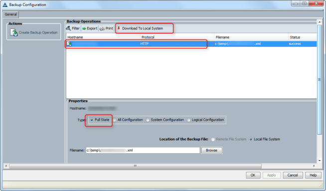 cicsco ucs system backup download