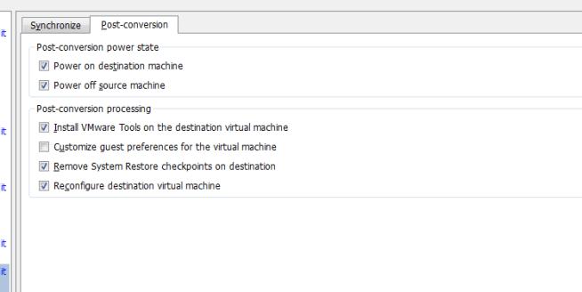 vCenter Server P2V Step 36