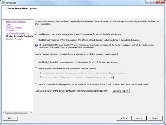Update Manager Host Upgrade Step 5