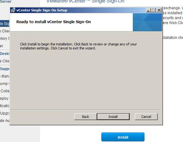 vcenter upgrade step 2