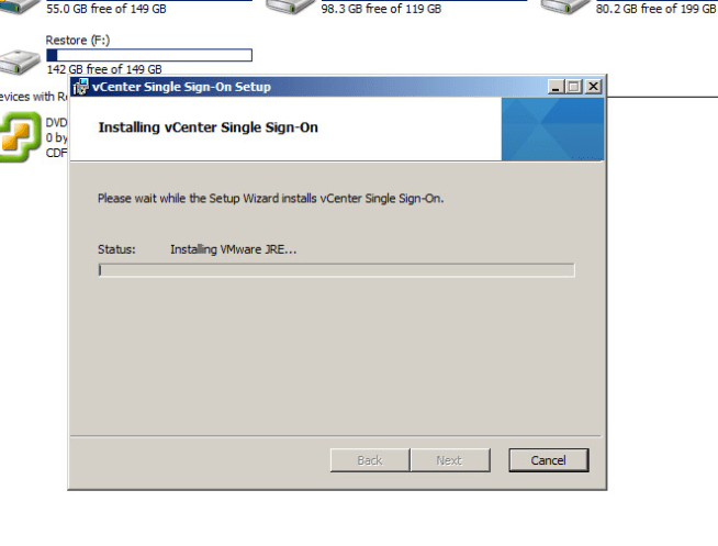 vcenter upgrade step 4 vmware JRE