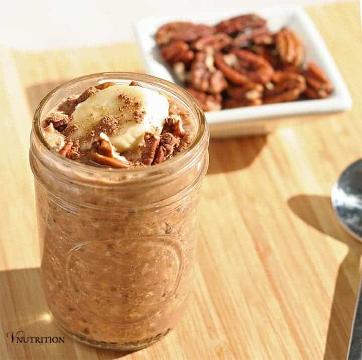 Peanut Butter Chocolate Overnight Oats | An easy and delicious breakfast or snack. vegan, recipe, breakfast