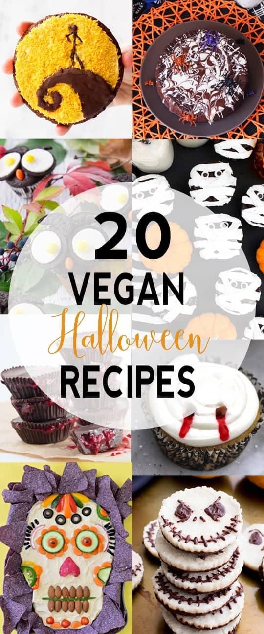 20 Vegan Halloween Recipes | Want some tasty and fun vegan Halloween recipes? I got you covered! I'm sharing my 20 favorite vegan treats!