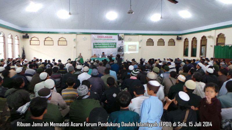 Aktivis Islam Dari Berbagai Provinsi Hadiri Deklarasi Forum Pendukung Daulah di Solo