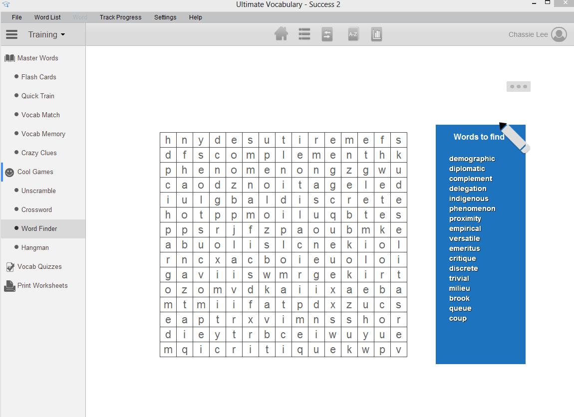 Vocab1 Vocabulary Building Software
