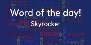 Skyrocket meaning in Hindi with sentence and picture- word in detail