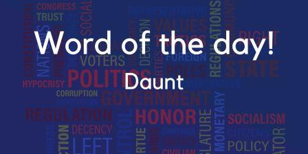 Daunt meaning in Hindi with sentence and picture- word in detail