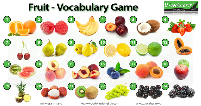 Fruit Picture Game English Vocabulary Game